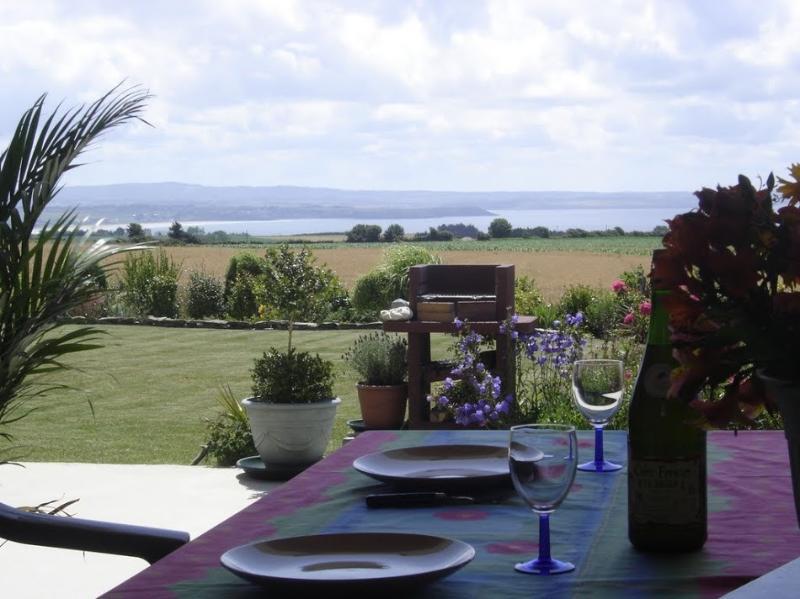 Vistas a la bahía de Douarnenez desde la terraza