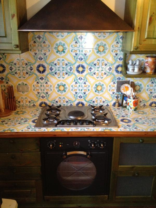 Kitchen with fully working appliances