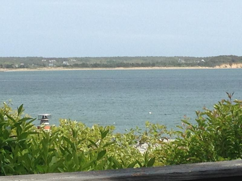 View from the deck on a beautiful summer day - only a few steps to your private beach