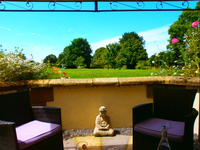 seated patio area