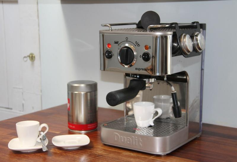 Enjoy an espresso or cappuccino