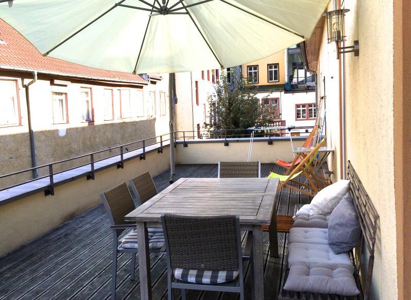 terraza para el desayuno, cena o almuerzo