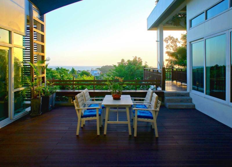 Best breakfast location | The Levels | luxury, sea-view, villa for rent, Koh Lanta, Thailand
