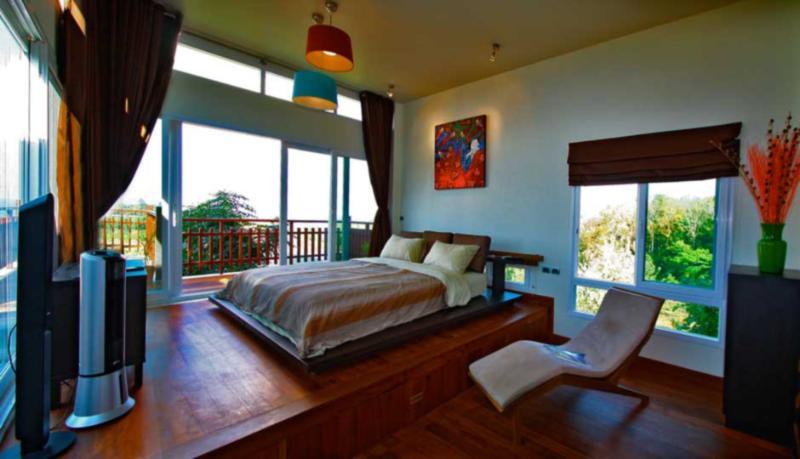 Master bedroom | The Levels | luxury, sea-view, villa for rent, Koh Lanta, Thailand