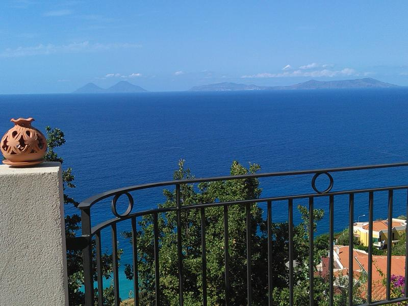 VIEW FROM THE TERRACE, THE WONDERFUL EOLIAN ISLANDS