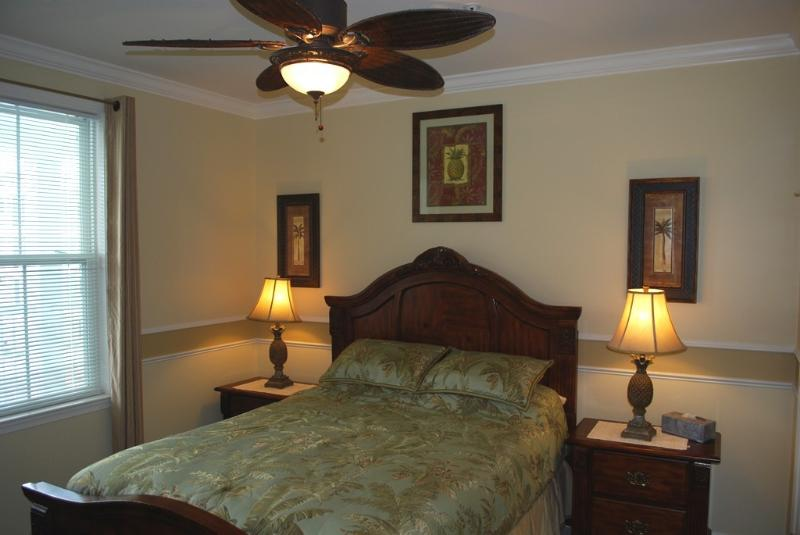 2nd Adult Bedroom with Bamboo Fan and Wall mounted LCD TV & DVD (not shown)