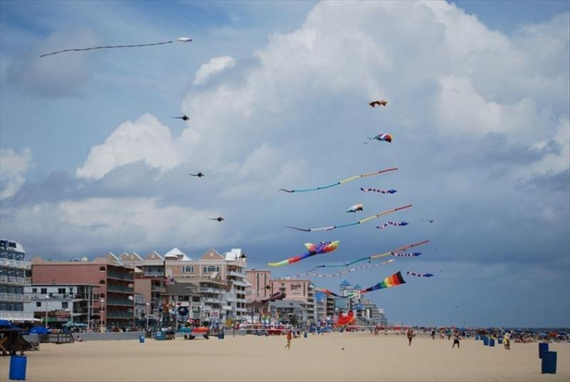 See the kites on the boardwalk - 5 min drive from condo - park in municipal lot!