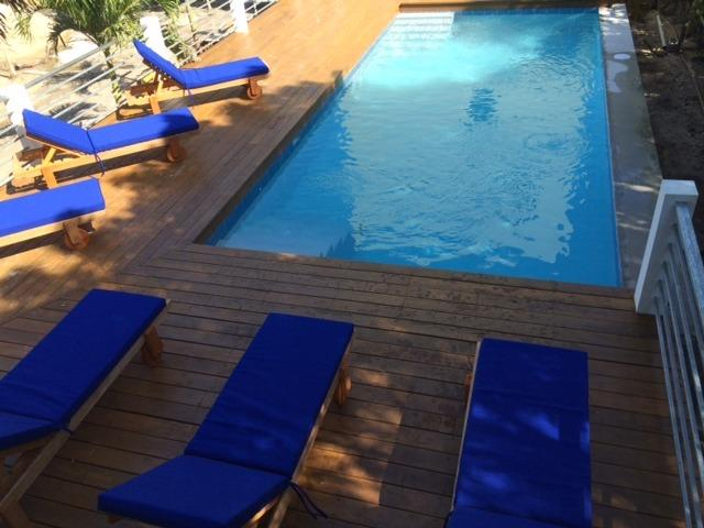 Fresh Water Swimming Pool with Loungers (shared with our other home)