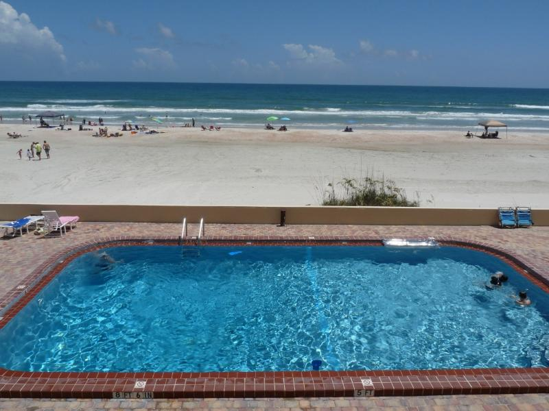 View from Large Private Oceanfront Balcony of 2nd Floor Unit