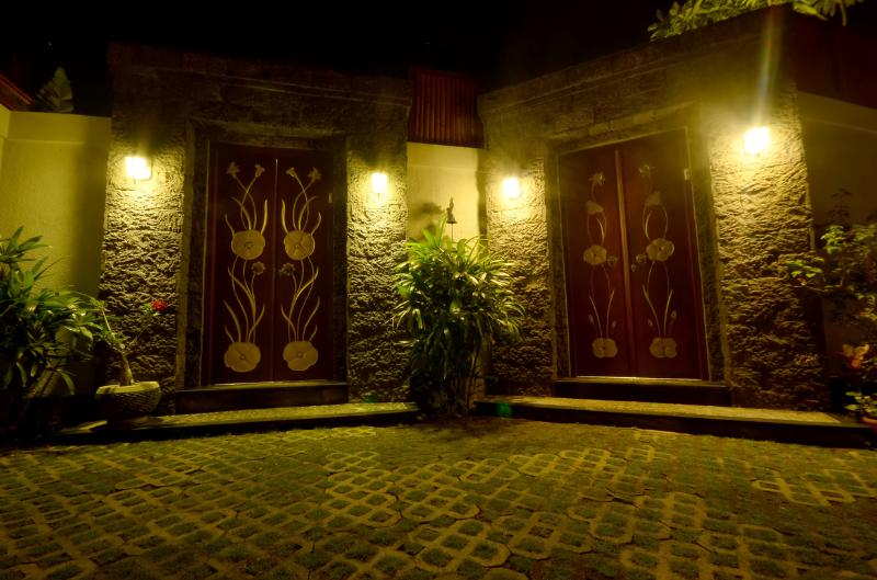 Villa entrance door