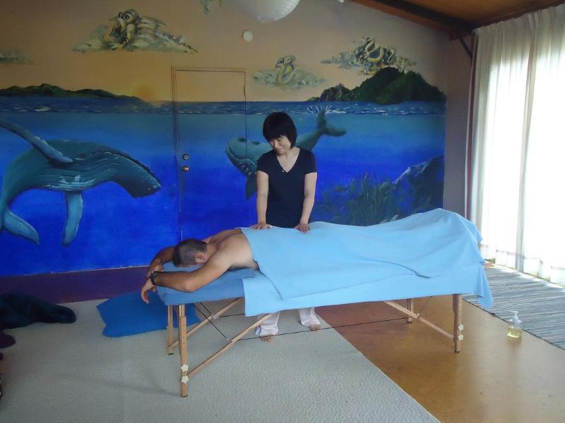 fancy a massage in our 'Whale Lodge' ?