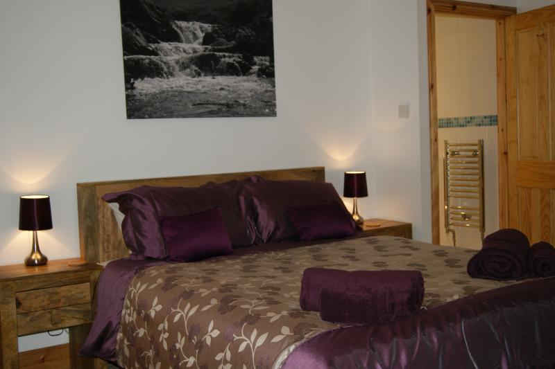 King Size Master Bedroom with En-suite shower and toilet