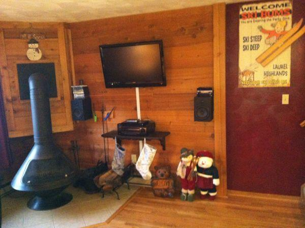 Living Room with fire place - includes flat screen television