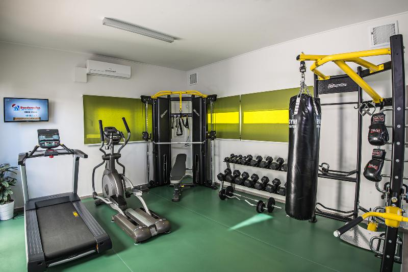 Gym with professional equipment