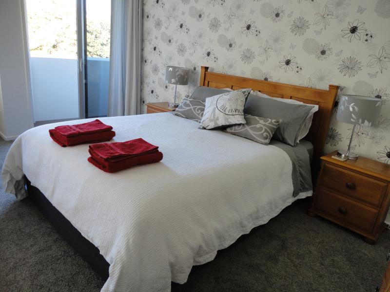 Comfortable bedroom area, quality linen and a private adjoining balcony