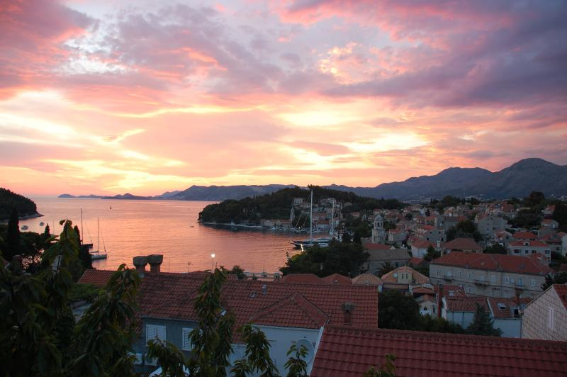 Cavtat with a sunset is one of the best souvenir our guests have !