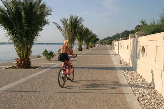 Sea cycle track