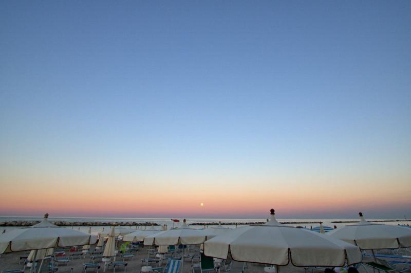 the beach at dawn