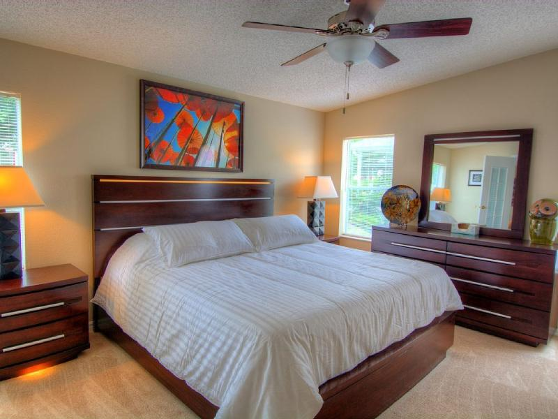 Master Suite with pillow top King sized bed