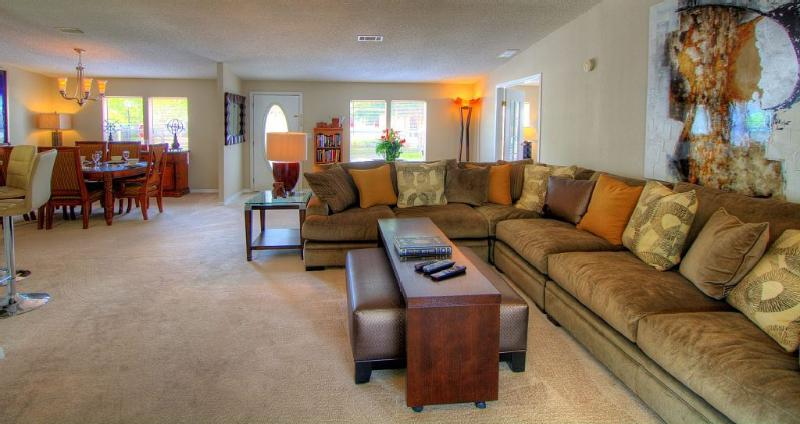 Large sectional seating in Living room