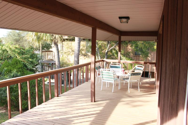 Your own private deck space with seating for 6 and a bbq grill