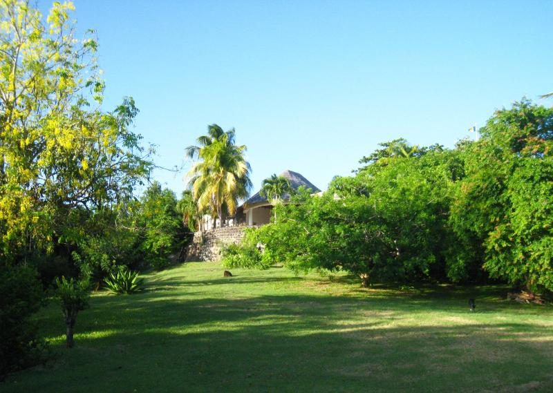 A small part of the property grand gardens overlooking the ancient Sugar Mill