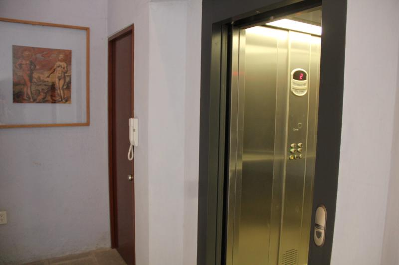 Modern and new elevator