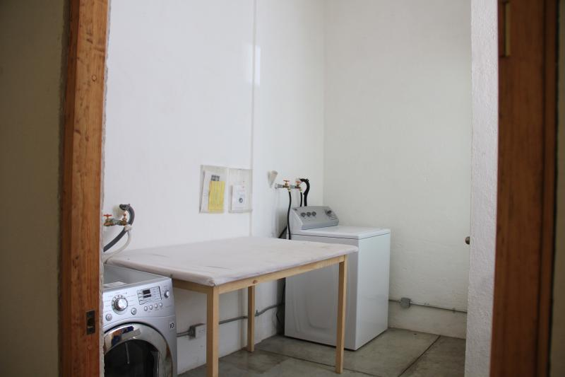 Shared free laundry room