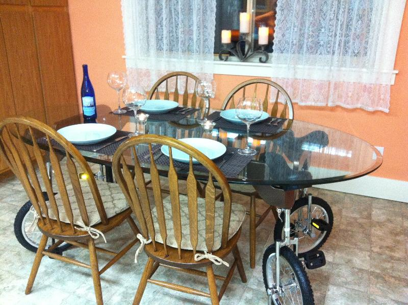The unique unicycle dining table