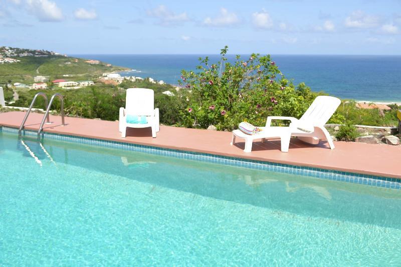 Pool overlooking ocean and Guana Bay Beach