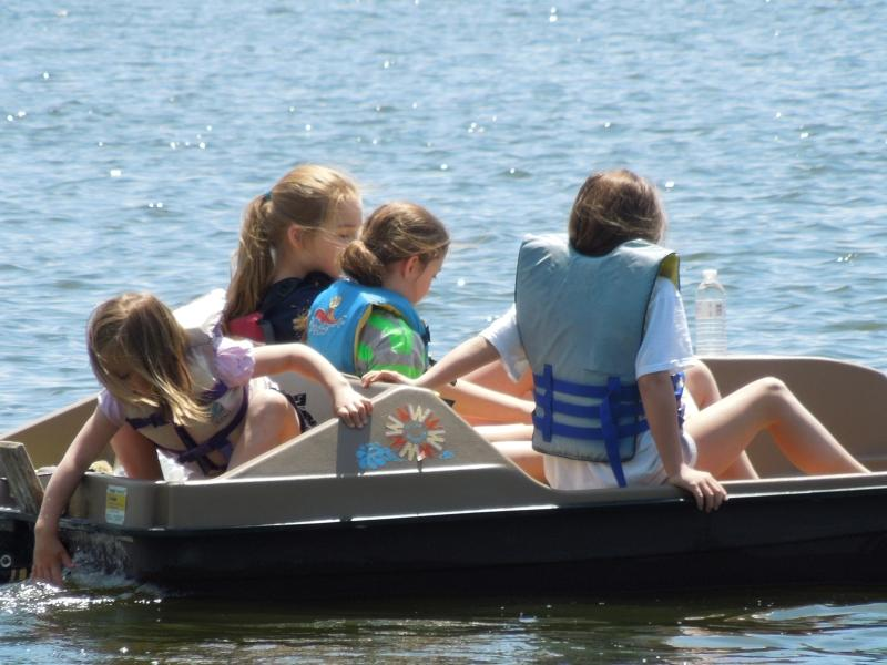 Paddleboat picnic in the Summer sun