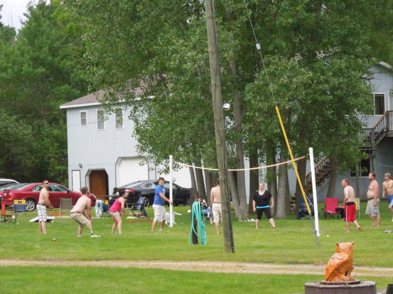 Family volleyball game