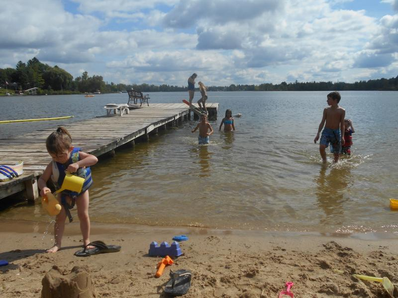Making sandcastles in the sun