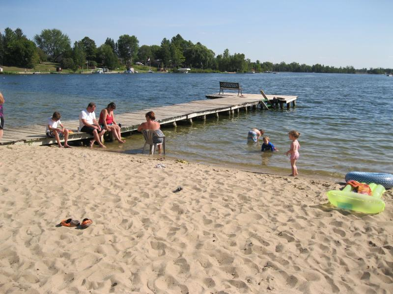 Playing on the beach, view of Dock 2 of 3. 'The Swimming Dock'