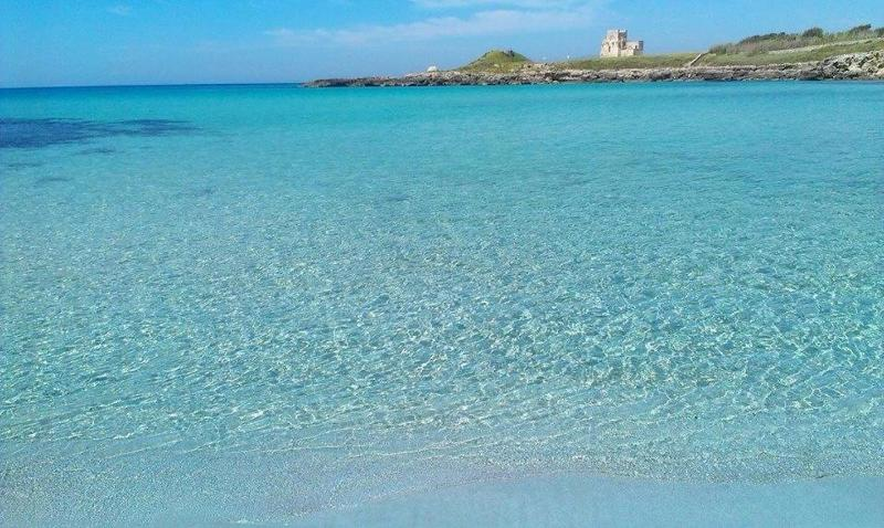 Turquoise blue sea and archaeological park Saturo, just 10 minutes drive