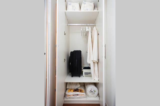 This is only small part of the closet, there are plenty of storage places in the apartment.