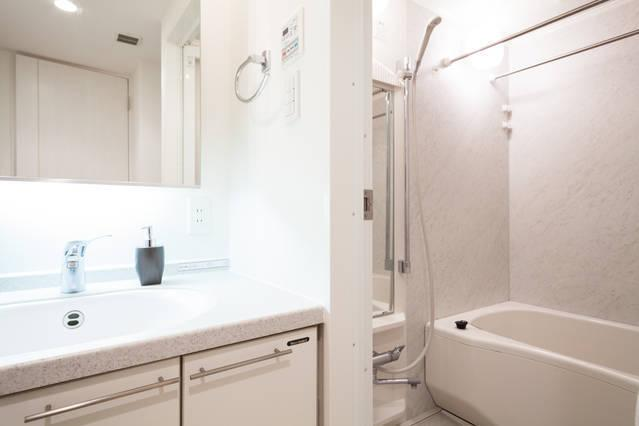 New, Fully equipped and spacious bathroom.