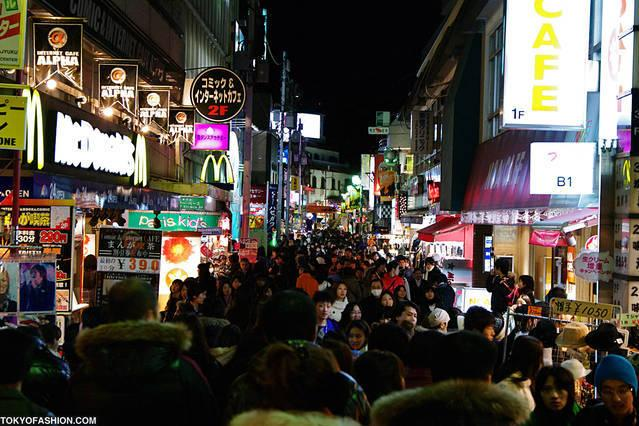 Famous Takeshita street at night, 4 minutes walk from the apartment!