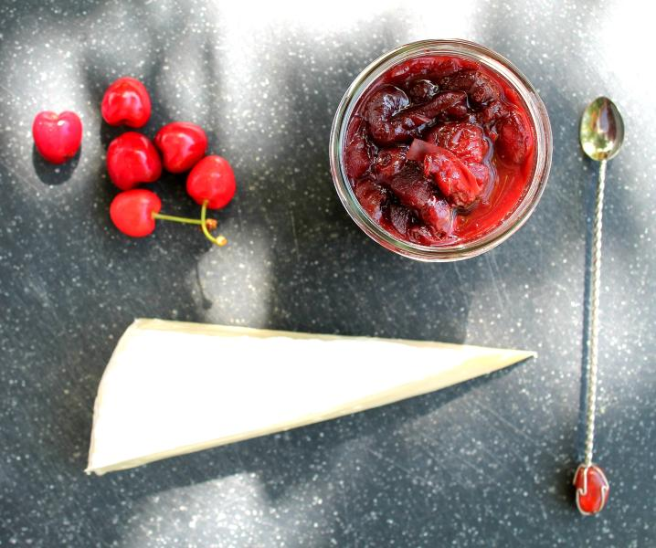 Enjoy some of the local cheese with our homemade cherry chutney