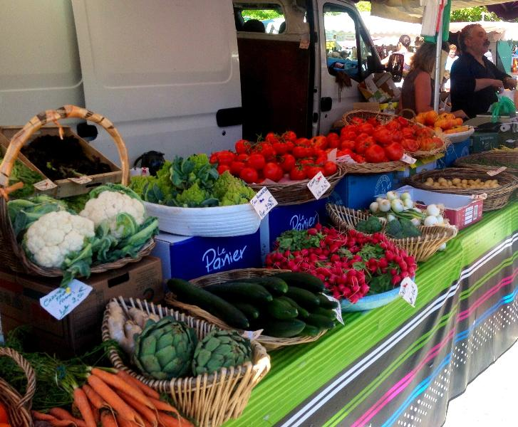Fresh produce at our village markets every Sunday