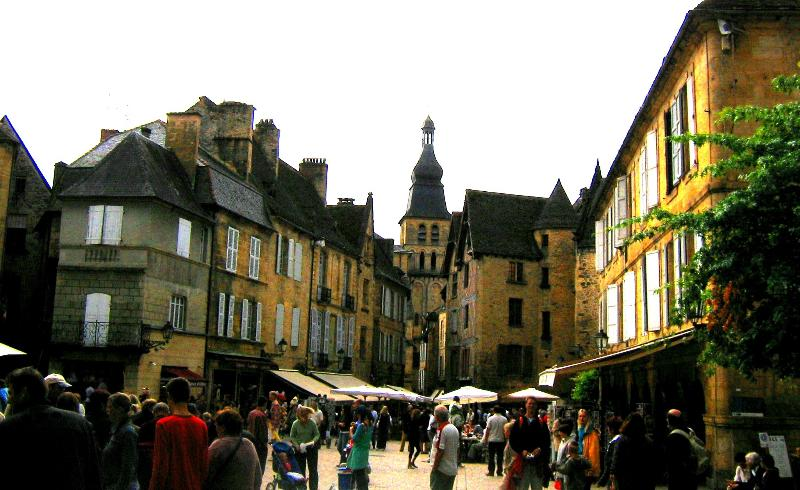 Famous medieval town of Sarlat, a short drive away.