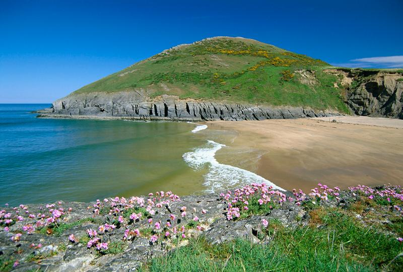 Mwnt beach just 3 miles from Bramble Cottage