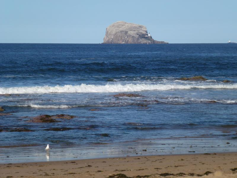 A view of the Bass Rock just a few steps from the property