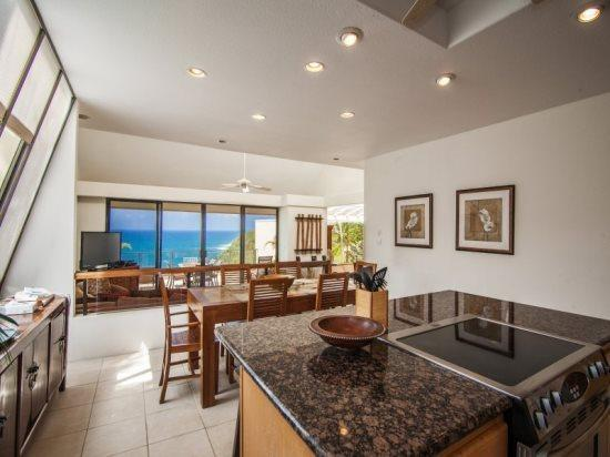 Kitchen, dining and a stellar view.