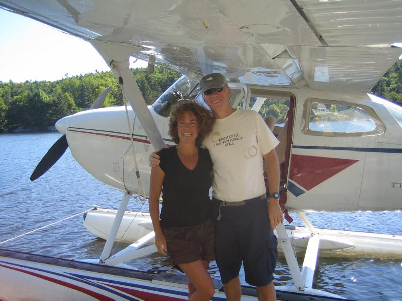 Owners Susan Morris and Chip Newell in the summer.