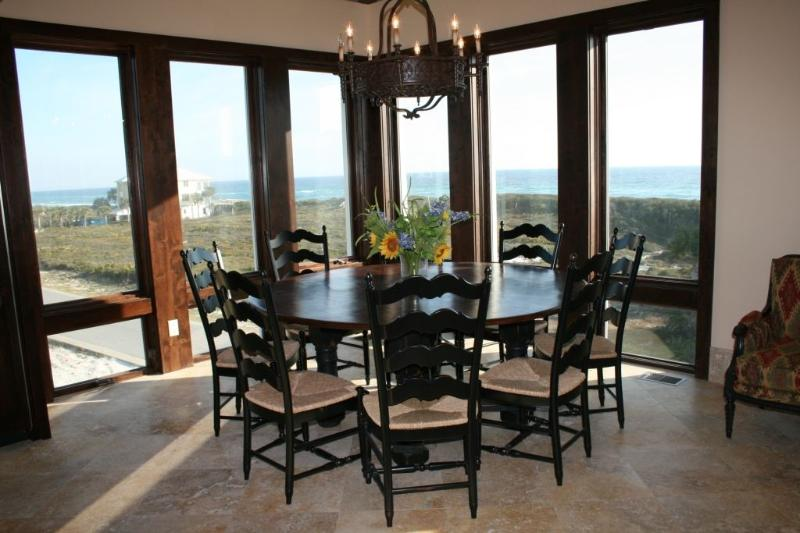 Elegant Dining Table in 3rd Story Great Room