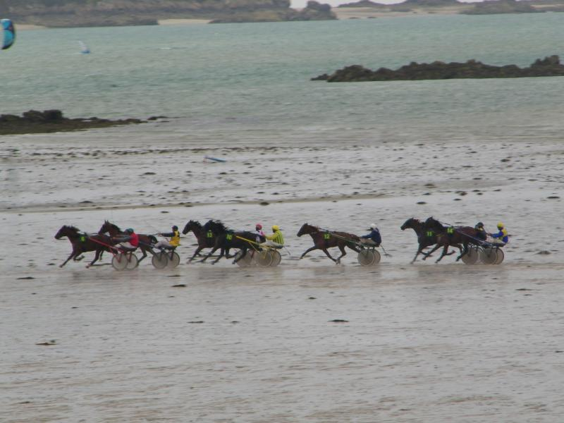 Horse races on the beach at Lancieux