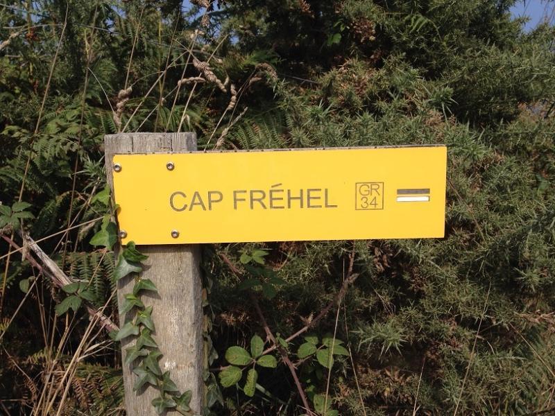 GR34 Cap Fréhel. Kust wandelpad die de lengte van de kustlijn van Bretagne loopt