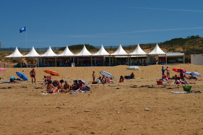 Der Strand von Les Conches