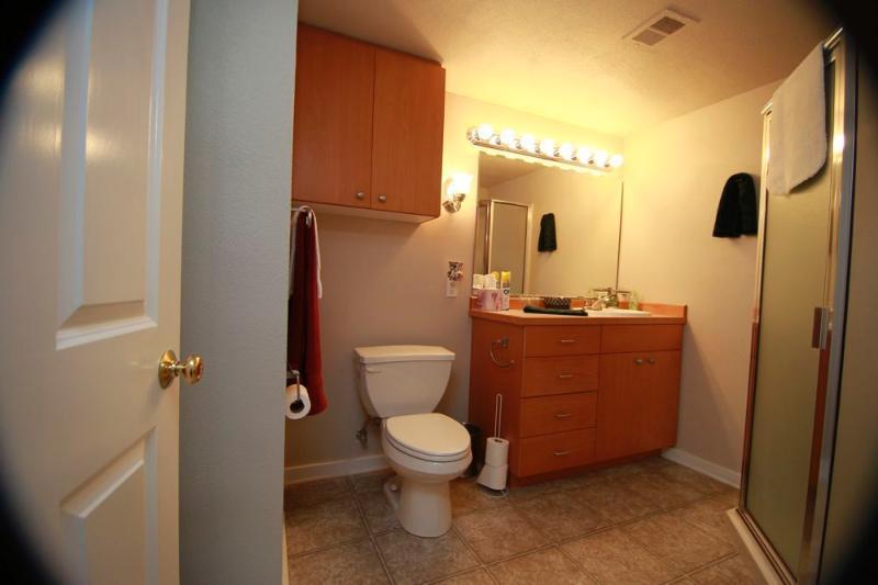 Suite 1  large bath,  bath linens provided